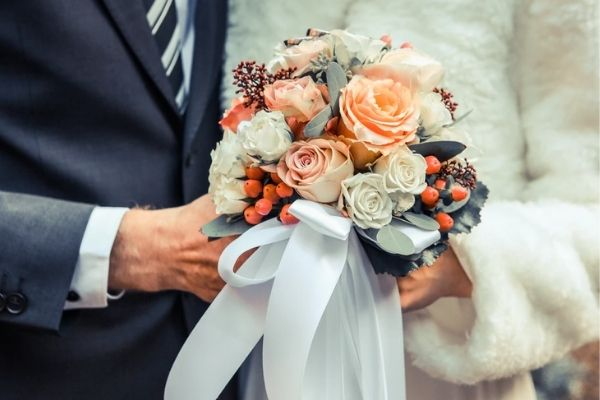 Roses for wedding bouquet
