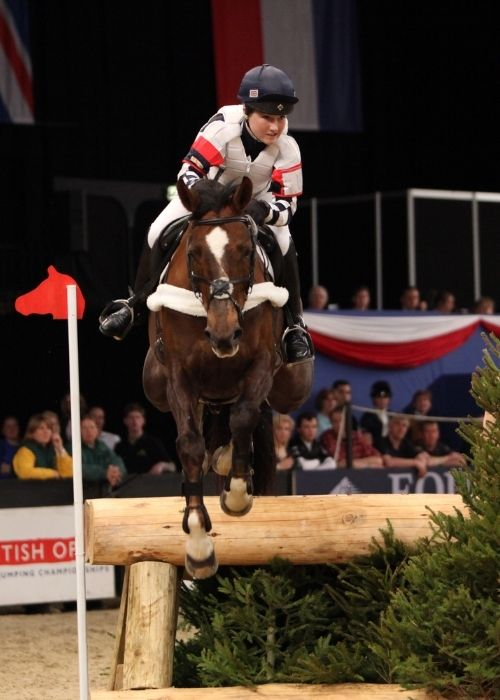 Laura Collett on Jitterbug in the British Open Show Jumping Championships, April 8, 2010, in Birmingham England