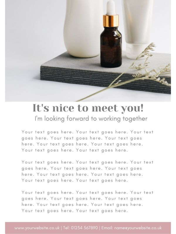 Welcome Client Packet - Welcome Letter